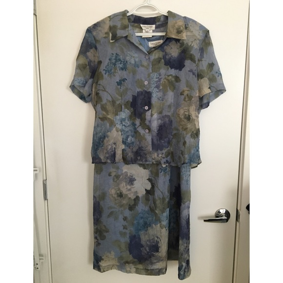 Lavender blue sheath dress with top